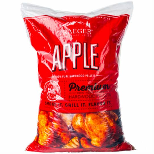 Traeger Smoker Accessories - Apple Pellets - 20LB BAG