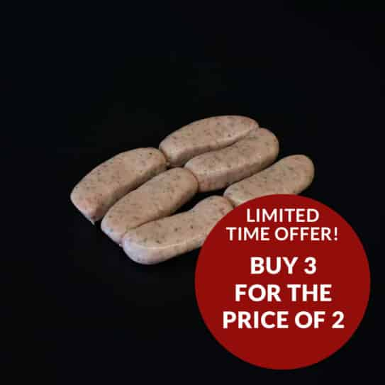 6 Sheering Sausages (frozen) - 3 for 2